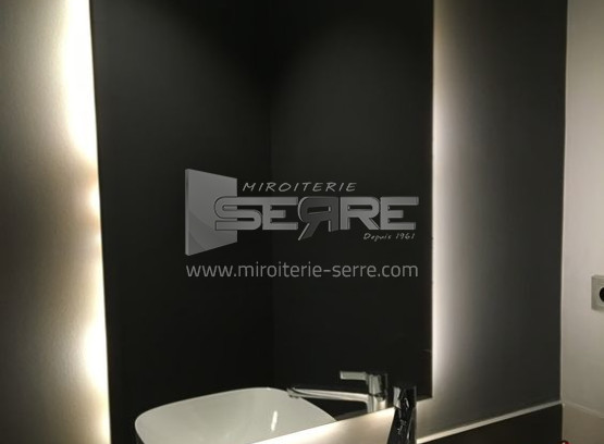 Etude Et Fabrication Pose De Miroir De Salle De Bain Moderne
