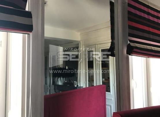 etude et fabrication pose d 39 un miroir sur mesure dans une pi ce de vie miroiterie serre. Black Bedroom Furniture Sets. Home Design Ideas