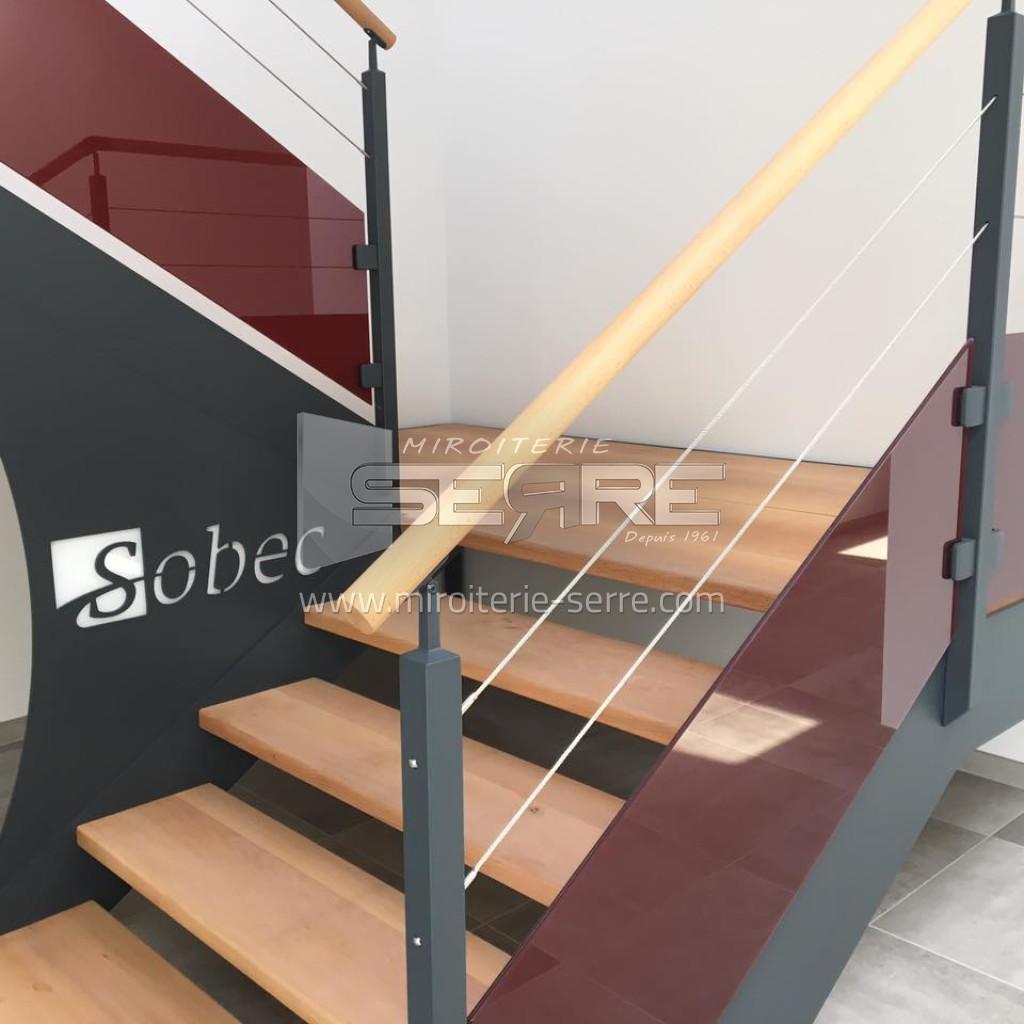 Etude et fabrication garde corps en verre pour escalier for Garde corps verre securit